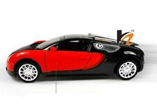 Bugatti Veyron Sports Car Light and Music Red , Diecast Car Model Toys NEW 1:36