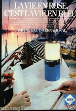 Publicité advertising 1981 Lampe Camping Gaz International
