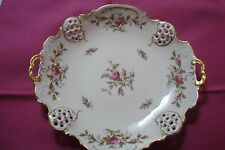 Rosenthal tray Moliere Pattern, Moosrose, double handle [#7]