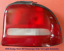 1995-1999 Dodge Neon (Tail Light Assembly) R-H Passenger Side P/N's AA1P2RST 94