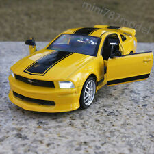 Ford Mustang 2009 GT500 1:32 Alloy Diecast Model Cars Sound & Light Yellow Toys