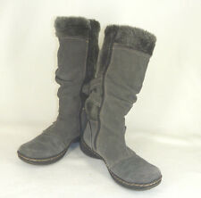 Bass Winter Winter Insulated Boots Gray Leather and Fleece Womens 8.5 M