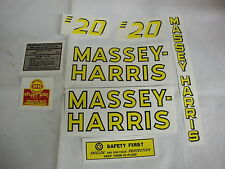 Massey Harris 20  Tractor Decal Set - New FREE SHIPPING