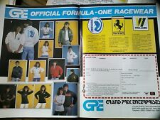 Linda Lusardi 1983 Adverts Ferrari Williams Cloths GP Formula 1 F1 Motor Racing