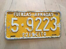 """VENEZULA MILITARY FUERZAS ARMADAS ARMED FORCES LICENSE PLATE """" 5 9223""""  EJERCITO"""