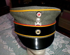 WWI Imperial German Officer Hussar Visor Cap with Traditions Skull Badge Uniform