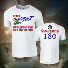 "PETER WRIGHT ""SNAKEBITE"" DARTS TEAM T-SHIRT (ALL SIZES AVAILABLE) 180, GIFT"