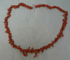 Antiguo Coral Collar 58cm X 1.4cm 37g