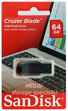 SanDisk Cruzer Blade 64GB USB Flash Drive 64G Stick Pen Key AU Warranty CZ50