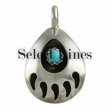 Sterling Silver Bear Claw Pendant Small Navajo Native American Jewelry