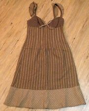 MOSCHINO CHEAP & CHIC Browns White Wool Sheath Shift Dress Size 8