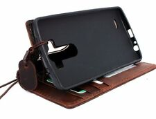 Genuine Natural leather case for LG G3 id Window 3 Credit Card slots Slim Design