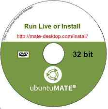 Ubuntu MATE 16.04.1 Live or Install Linux Operating System 32 bit + Libre Office