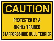 Dog Breed Staffordshire Bull Terrier Caution Sticker Pet for Bumper Car Door