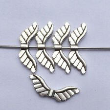 20pcs Alloy Antique Silver Wing Beads Jewelry DIY Making Craft