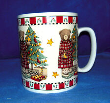 Extra Large Sakura Christmas Bears Coffee Mug