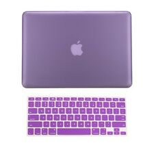 "2 in 1 Rubberized PURPLE Hard Case for Macbook PRO 13"" A1278 with Keyboard Cover"
