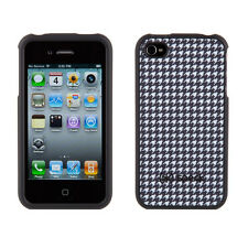 ****New SPECK FITTED Dalmatian B&W PLAID FABRIC BACKED iPhone 4s/4 Cover Case***