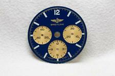 Breitling Chronograph Blue & Gold Wristwatch Dial - 26.5mm NOS