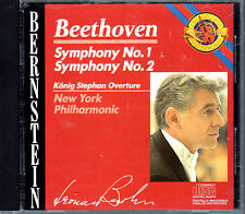 Leonard Bernstein - Beethoven Symphony No. 1 and 2 CD New York Philharmonic OOP