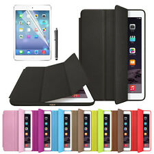 NEU For iPad Air 2 Slim Leder Hülle Smart Case Cover Stand Tasche + Film Pen Set