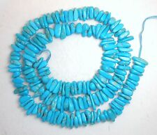 "Sleeping Beauty Turquoise Blue 3mm x 8mm Loose Gemstone Chip Beads 18"" Std #67"