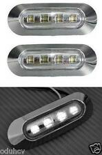 2x LED blanche Feux De Position Camion Bus LKW Caravane Camping car 24V Chrome