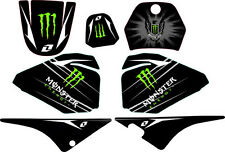 KIT DECO MONSTER DECALS YAMAHA PW80 PW 80 autocollants sticker 80PW piwi Neuf