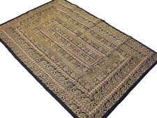 Indian Wall Hanging Decoration Tapestry Vintage Zari Floral Textile Fabric Art