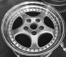 "for Porsche enthusiasts only ! classic 3-pc 18"" cup wheels 964 Turbo"