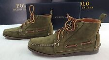 $395 Ralph Lauren Tahoma Suede Leather OLIV USA Chukka Boots Ankle Shoes 10.5 10