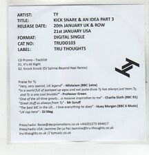 (EQ988) TY, Kick Snare & An Idea Part 3 - 2013 DJ CD