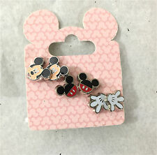 Disney Parks Mickey Mouse Earrings 3 Sets Face Icon Gloves NEW