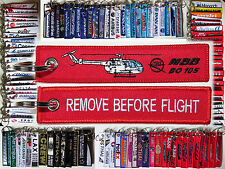 MBB BO 105 Bölkow helicopter keychain tag remove before flight part pilot owner