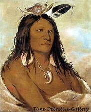 Ee-shah-ko-nee, Bow & Quiver, A Comanche Chief - 1843 - George Catlin Art Print