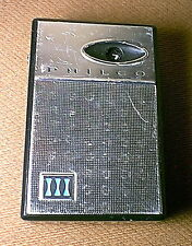 1963 Vintage PHILCO NT-600-BKG Mini 6 Transistor Radio - made in JAPAN - works