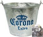 NEW CORONA GEUINE EXTRA BEER ICE BUCKET COOLER BOTTLE OPENER MEXICO GALVANISED