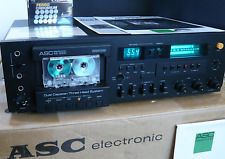 ASC AS 3000 rare cassette Deck Box and Papers Recapped and calibrated HighCom