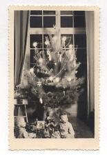 PHOTO ANCIENNE Noël - Chrismas - Enfant Jouets Bébé - Vers 1950 Sapin de Noël