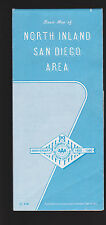 AAA Street Map of North Inland San Diego Area CA 1990 Anniversary Valley Center