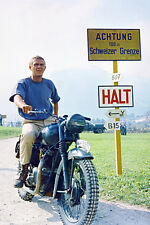 STEVE MCQUEEN GREAT ESCAPE 36X24 POSTER MOTORBIKE COOL