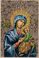 "Our Lady of Perpetual Help Gold Foil Mosaic Plaque (4"" x 6"")"