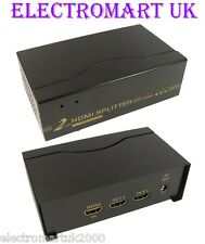 2 VIE 1 IN 2 OUT HDMI SPLITTER distribuzione AMPLIFICATORE Full 1080p
