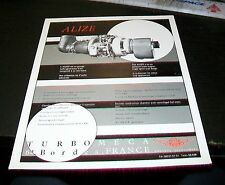 TURBOMECA ALIZE TURBO ENGINE SPECIFICATION SHEET. MAY 1971. INDUSTRIAL TURBINE