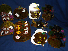 Lot of 13 hard plastic HALLOWEEN WINDOW Sun Reflector Decorations Ghosts Witch..