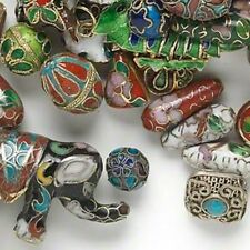 Beautiful Mix of 1/4 Pound pkg Cloisonne Charms and Beads