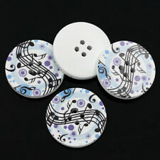 10 Wooden Musical Notes Design  BUTTONS 30mm 3cm Sewing scrapbook crafts