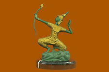 Collectible Hot Cast Ran Thai Thailand Price with Bow Bronze Sculpture Asian Art