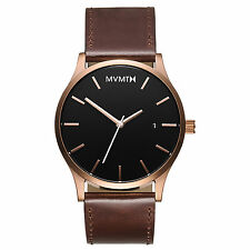 MVMT Watches Rose Gold Case with Brown Leather Strap Men's Watch ORIGINAL