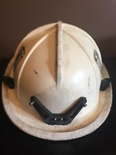 Cairns 1044 Fire Firefighter Helmet White Good Used Condition Halloween Costume